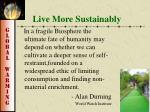 live more sustainably