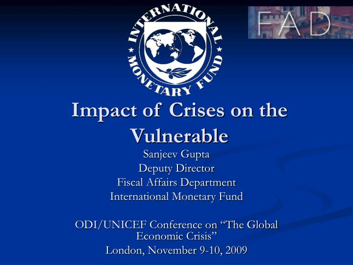 impact of crises on the vulnerable n.