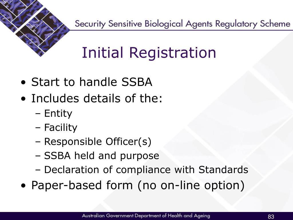 Initial Registration