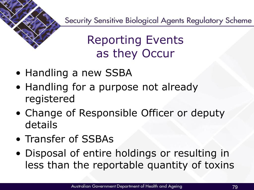 Reporting Events
