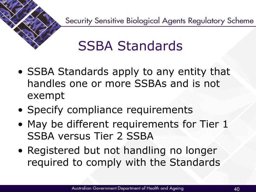 SSBA Standards