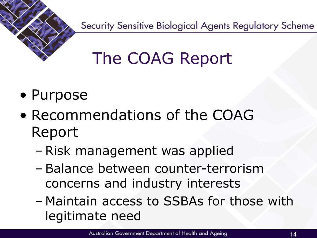 The COAG Report