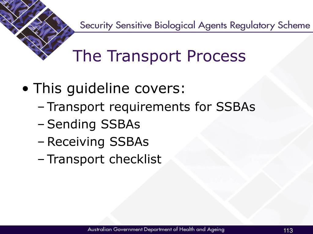 The Transport Process