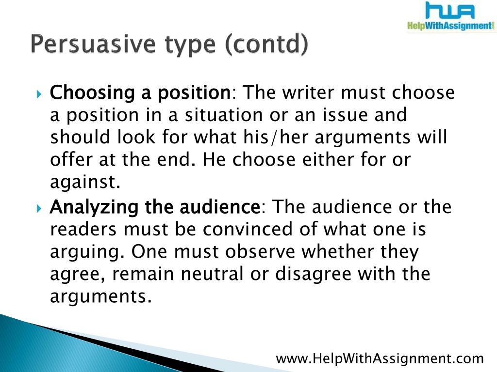 Persuasive type (