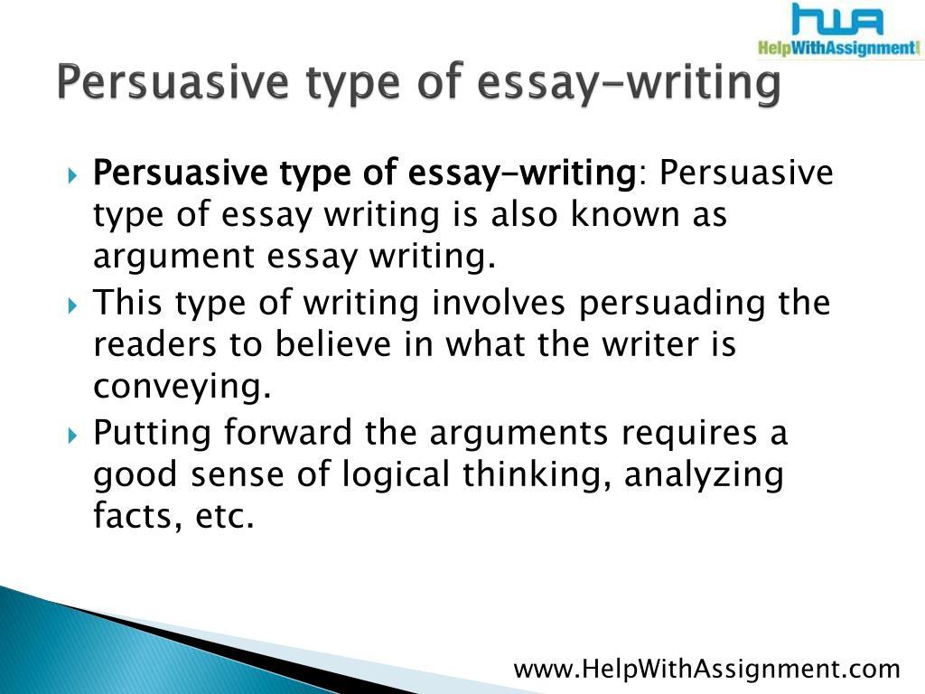 Persuasive type of essay-writing
