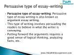 persuasive type of essay writing