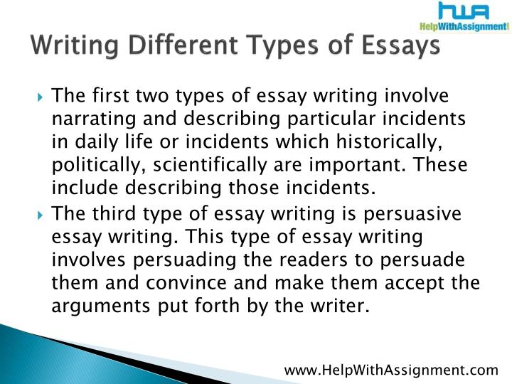 Sample English Essays Writing Different Types Of Essays Essay On Global Warming In English also Essays Papers Ppt  Writing Different Types Of Essays Narrative Powerpoint  Essay Paper
