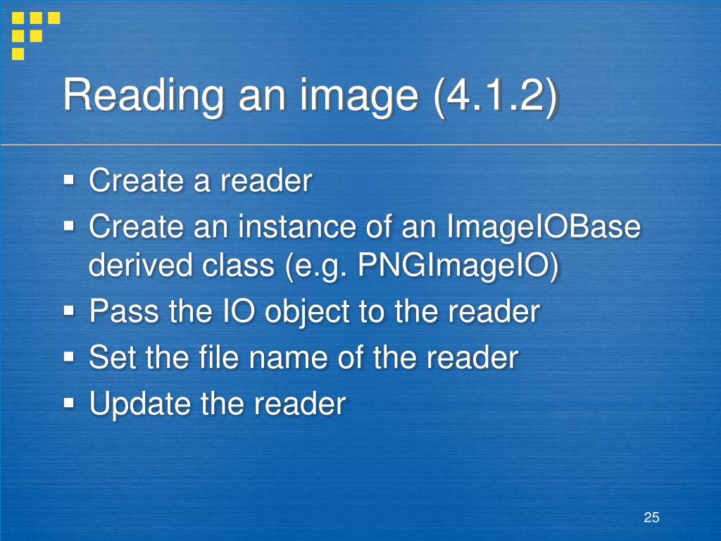 Reading an image (4.1.2)