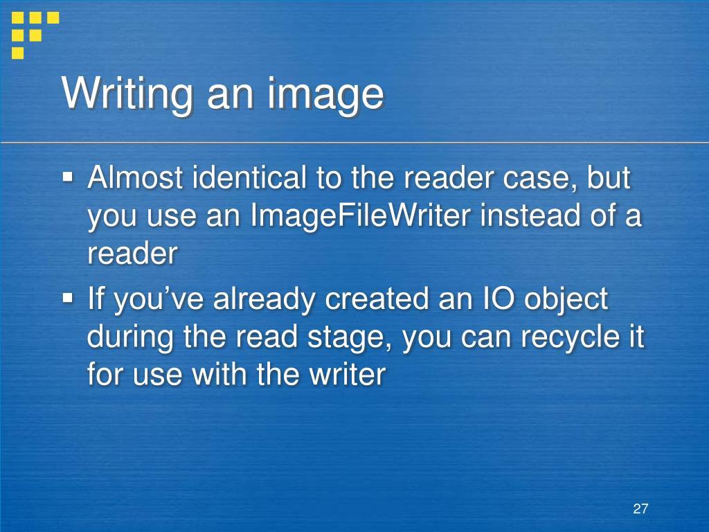 Writing an image