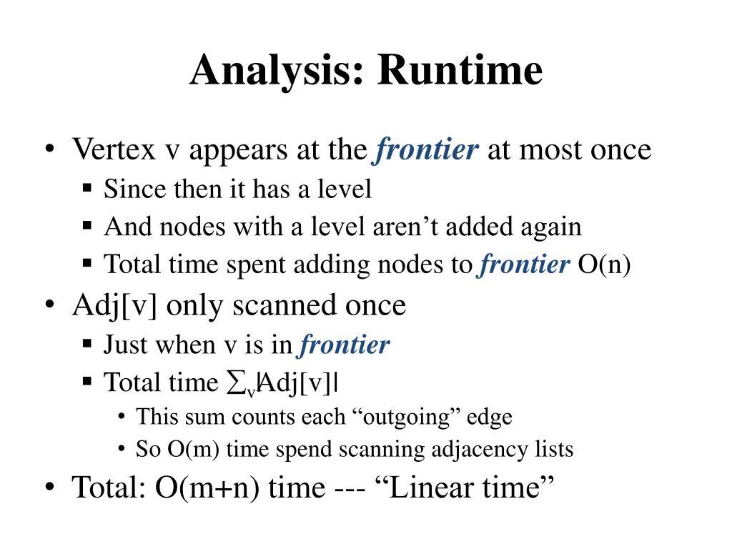 Analysis: Runtime