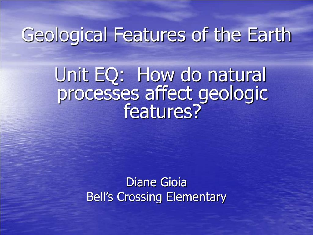 geological features of the earth l.