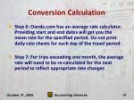 conversion calculation10