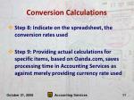 conversion calculations