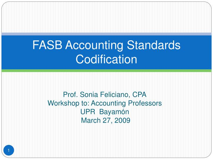 fasb accounting standards codification n.