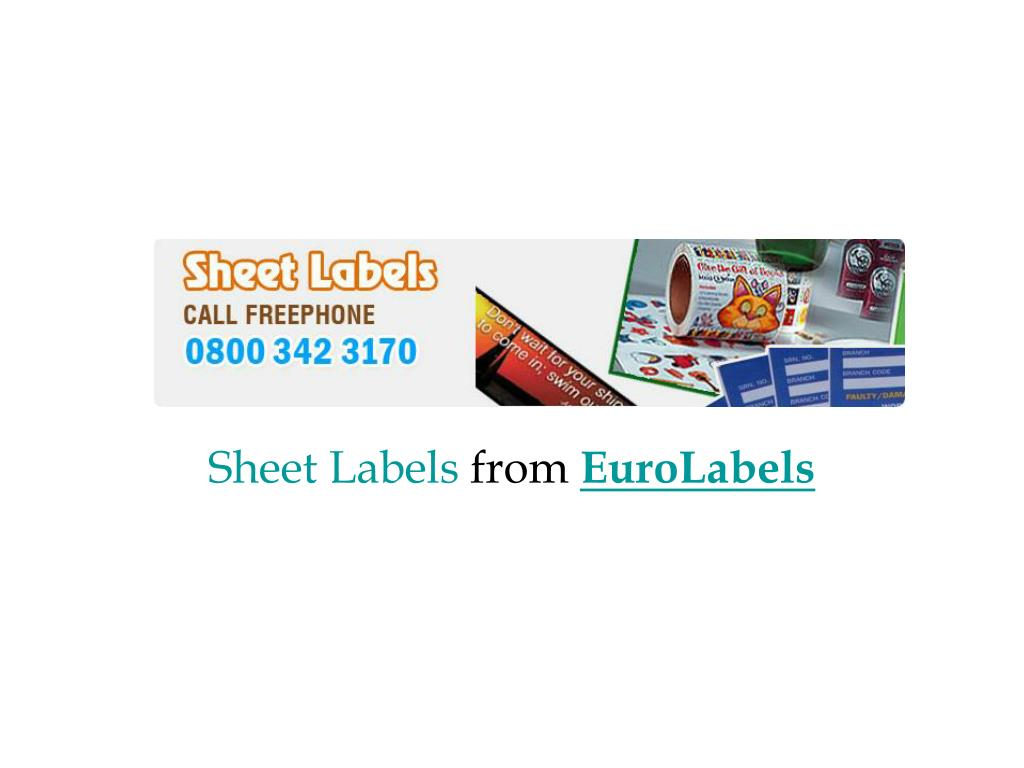 sheet labels from euro labels l.