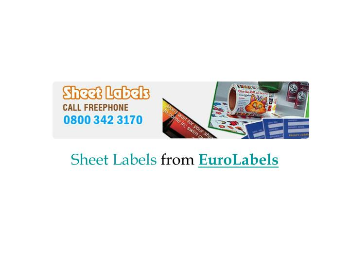 sheet labels from euro labels n.