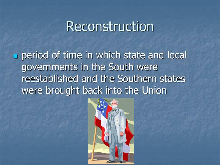 presidential vs congressional reconstruction