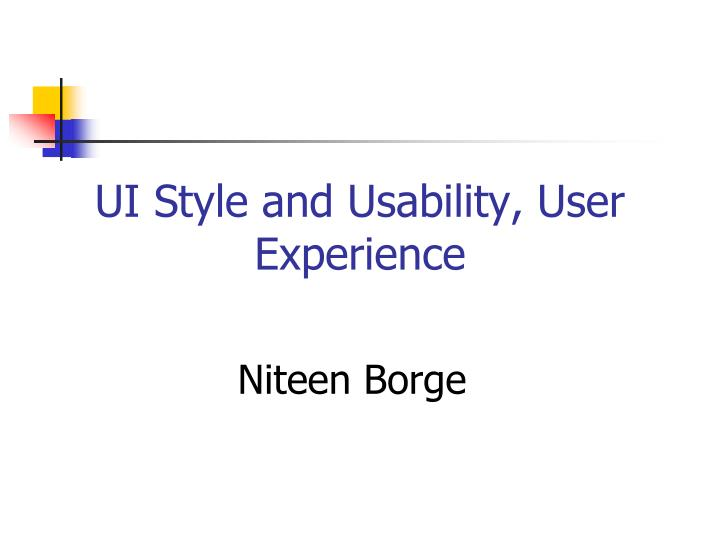ui style and usability user experience n.