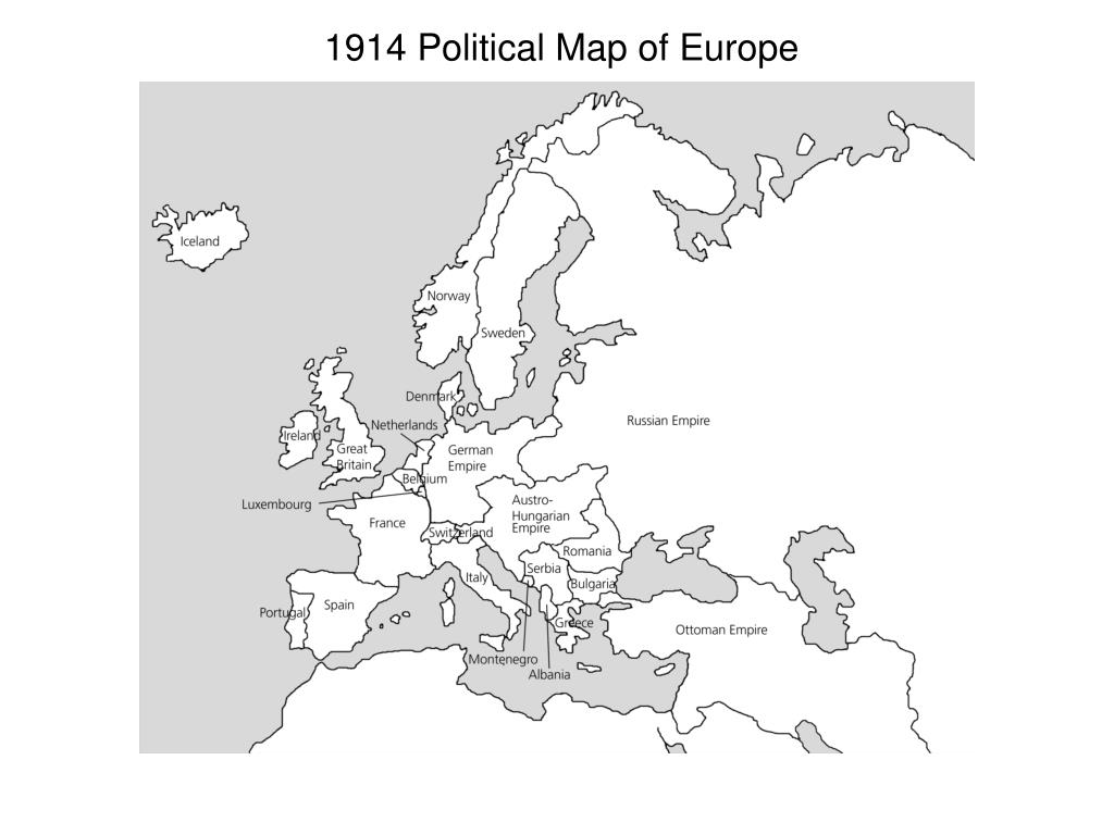 PPT - 1914 Political Map of Europe PowerPoint Presentation - ID:746972