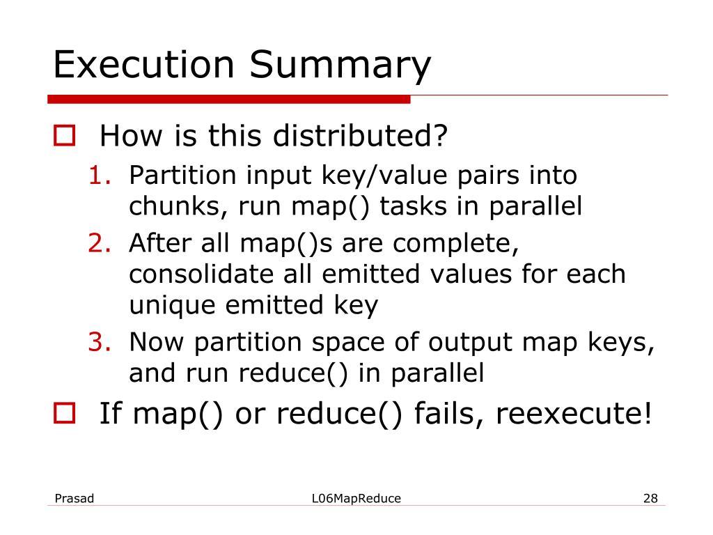 Execution Summary