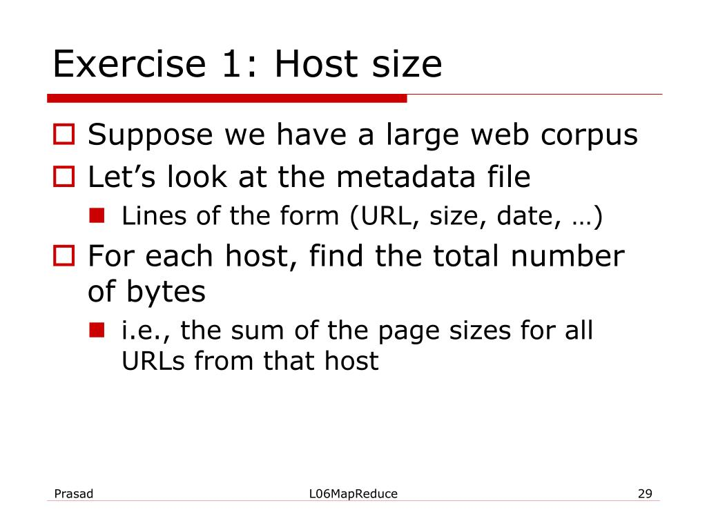 Exercise 1: Host size