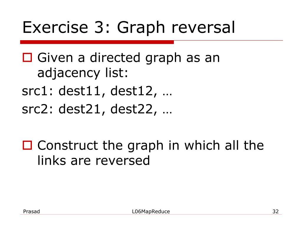 Exercise 3: Graph reversal
