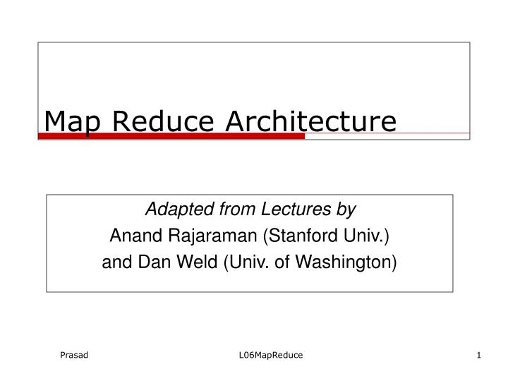 Map reduce architecture