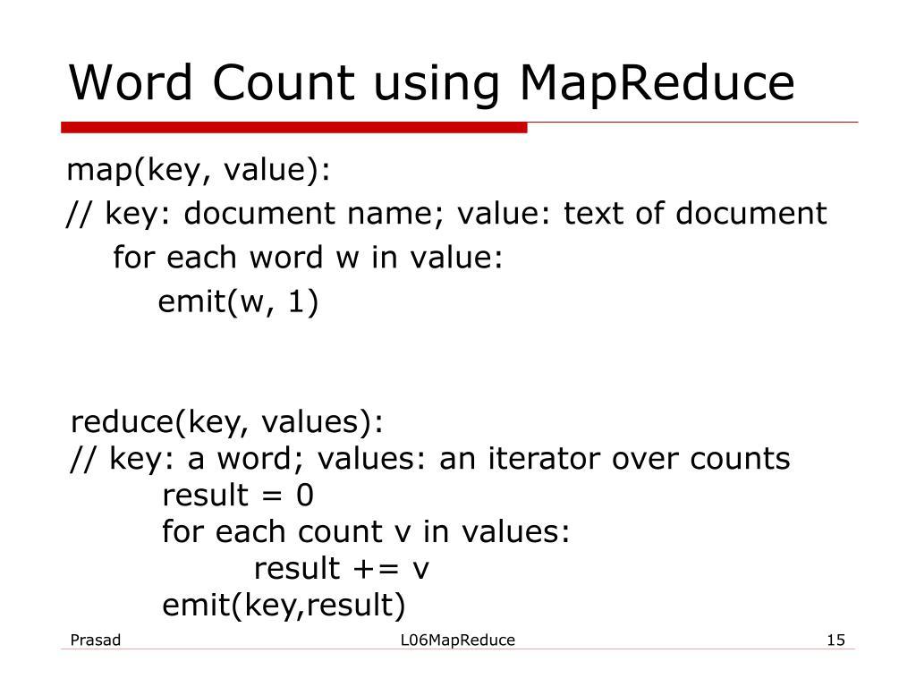 Word Count using MapReduce