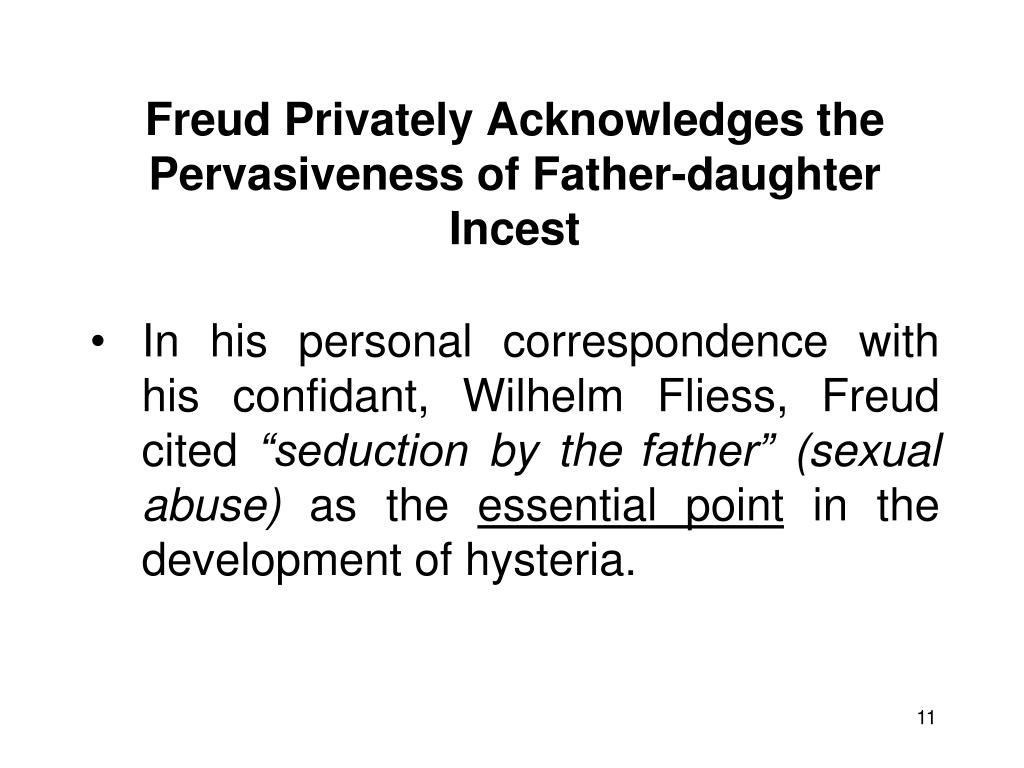 Freud Privately Acknowledges the Pervasiveness of Father-daughter Incest