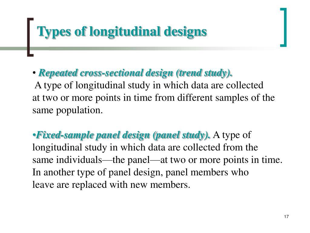Types of longitudinal designs