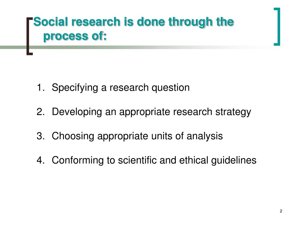 Social research is done through the