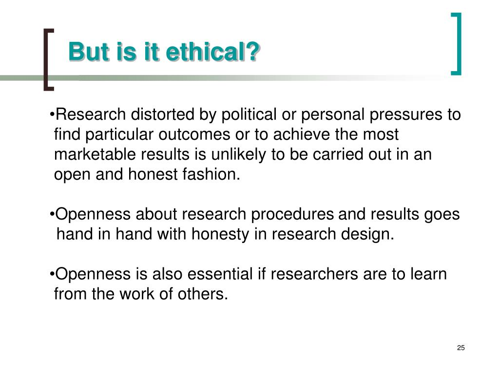 But is it ethical?