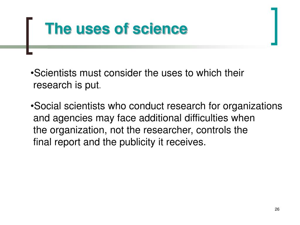 The uses of science