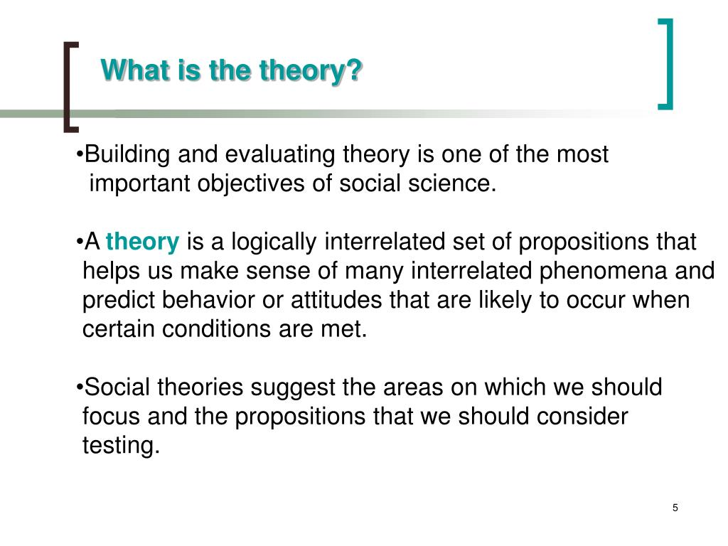 What is the theory?