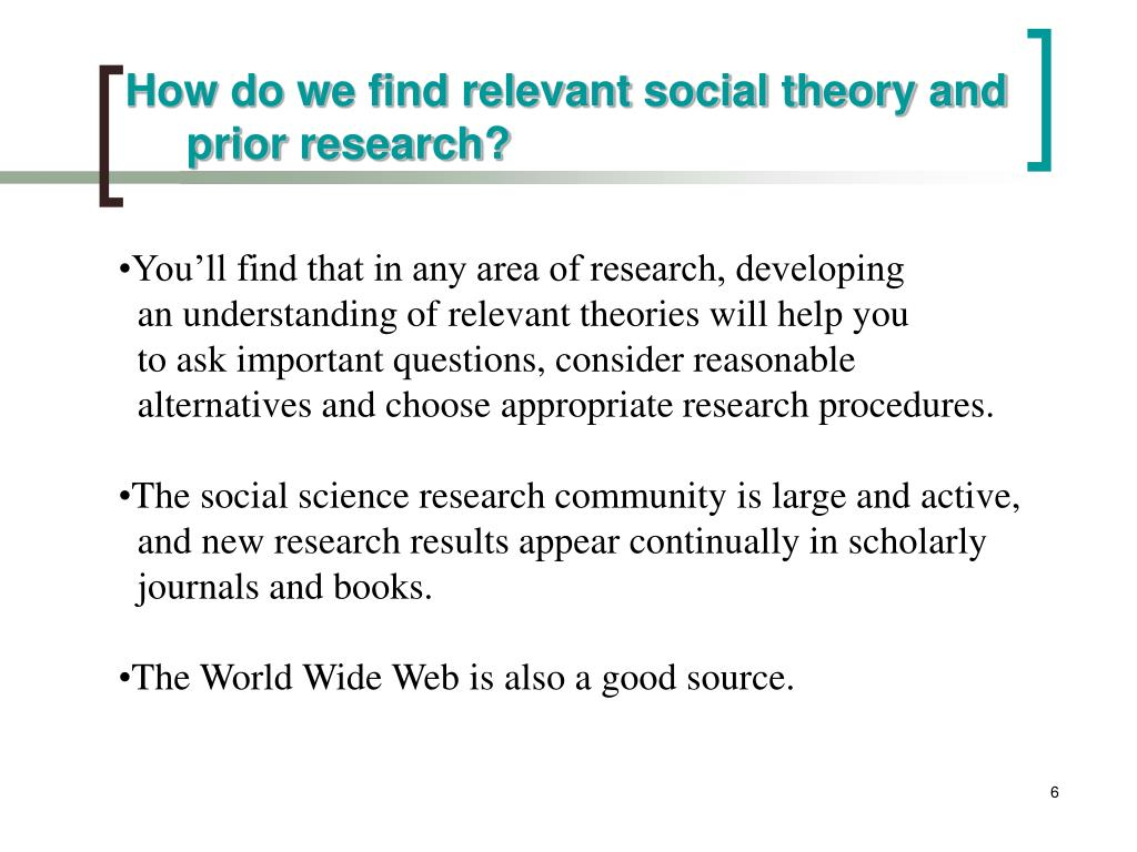 How do we find relevant social theory and