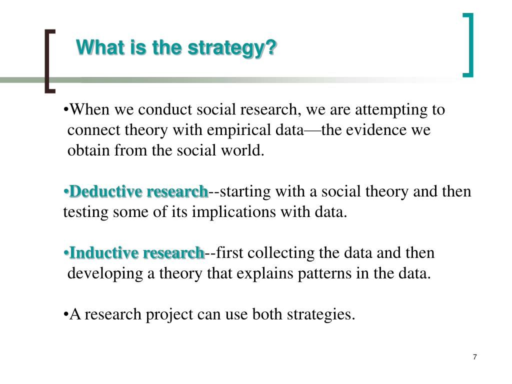 What is the strategy?
