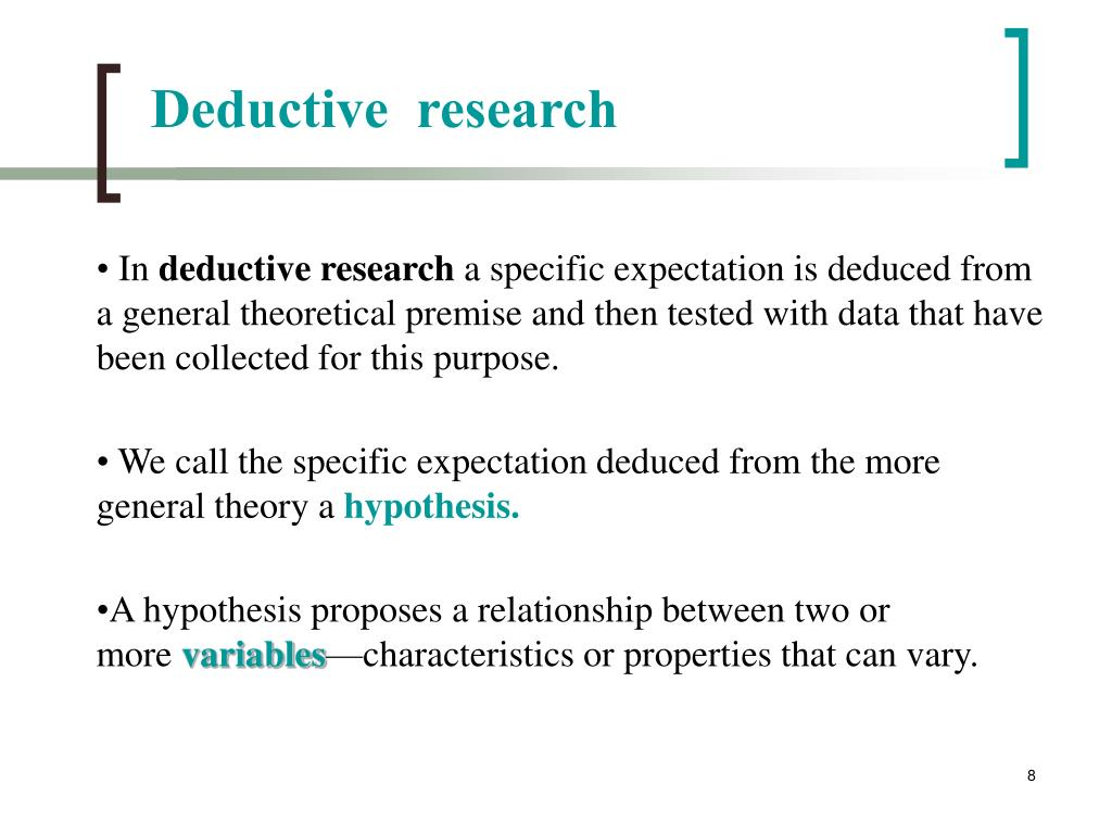 Deductive  research