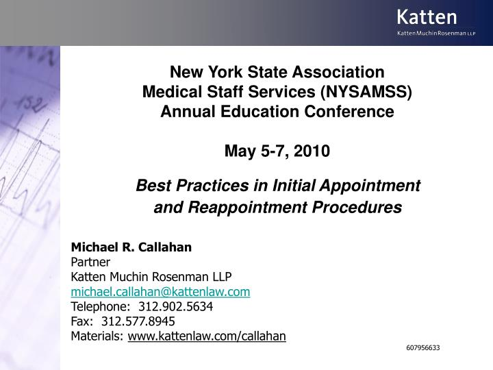 New york state association medical staff services nysamss annual education conference may 5 7 2010