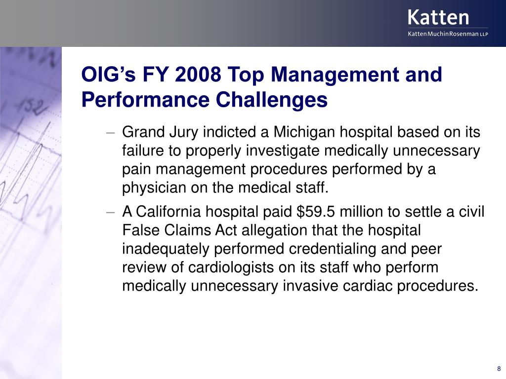 OIG's FY 2008 Top Management and Performance Challenges