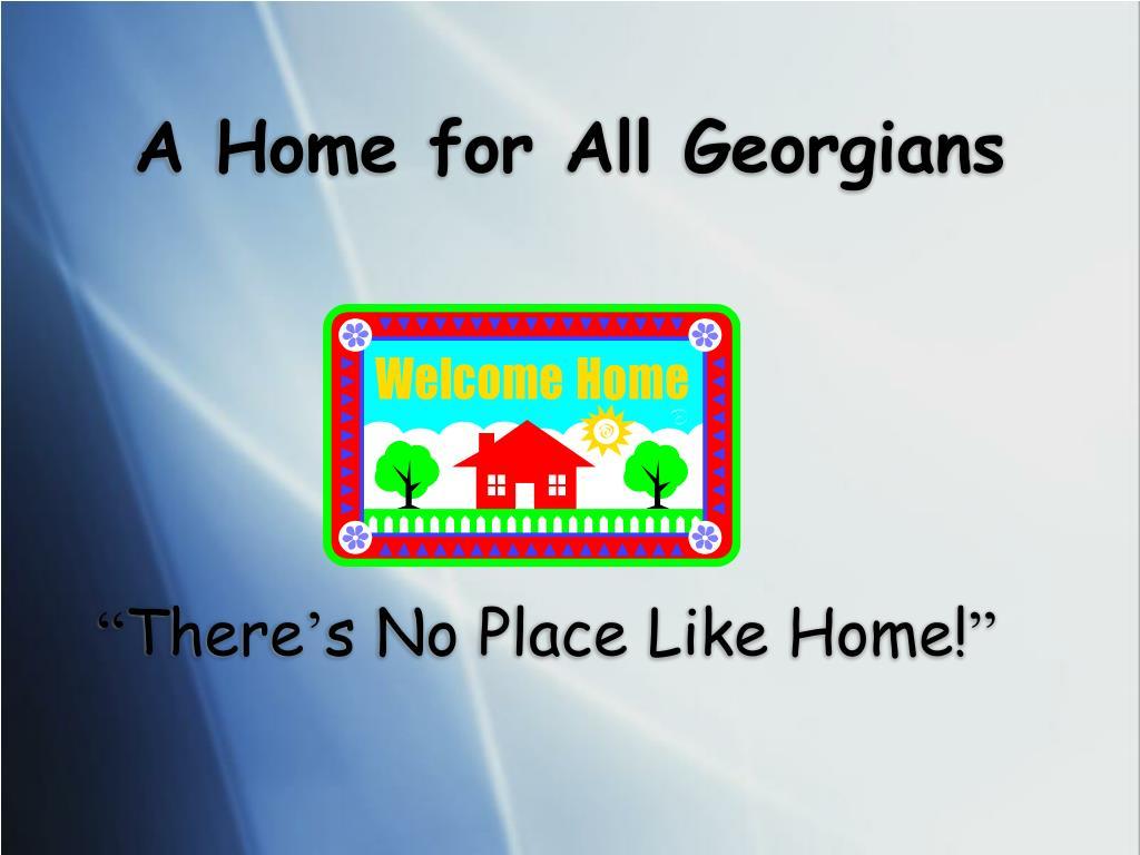 A Home for All Georgians