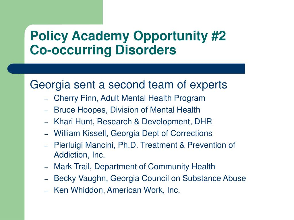 Policy Academy Opportunity #2