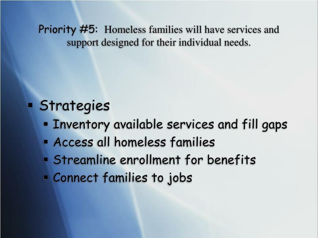 Priority #5: