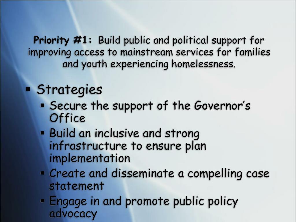 Priority #1: