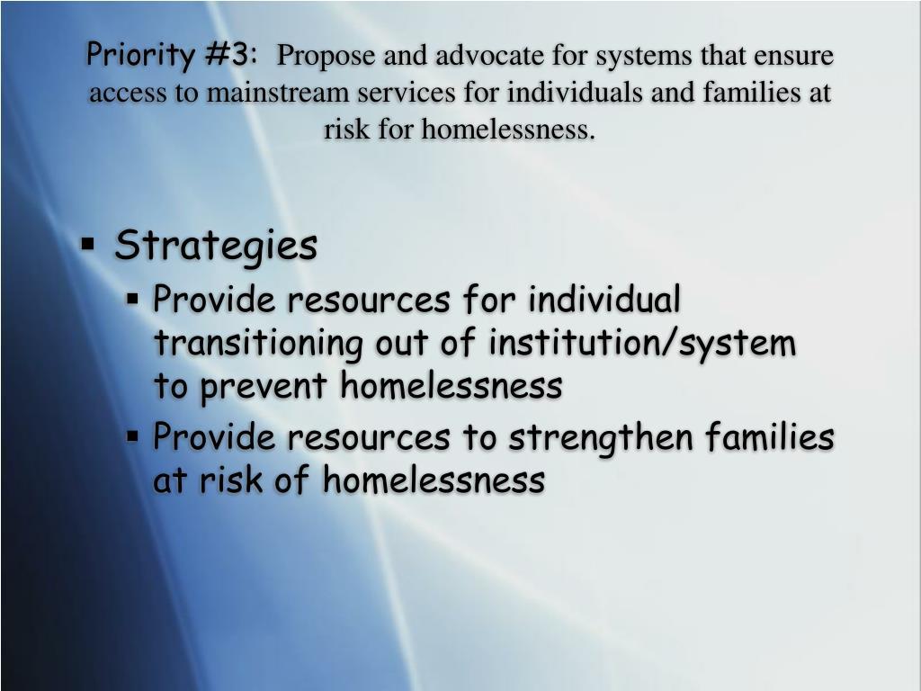 Priority #3: