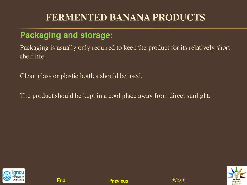 Packaging and storage: