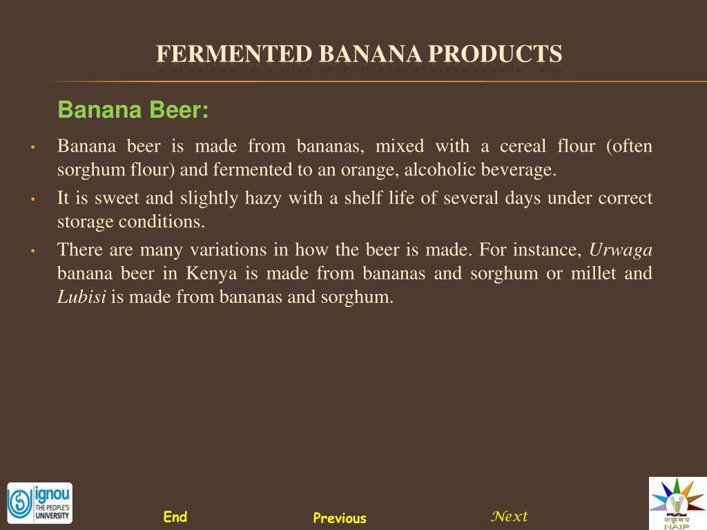 Banana Beer: