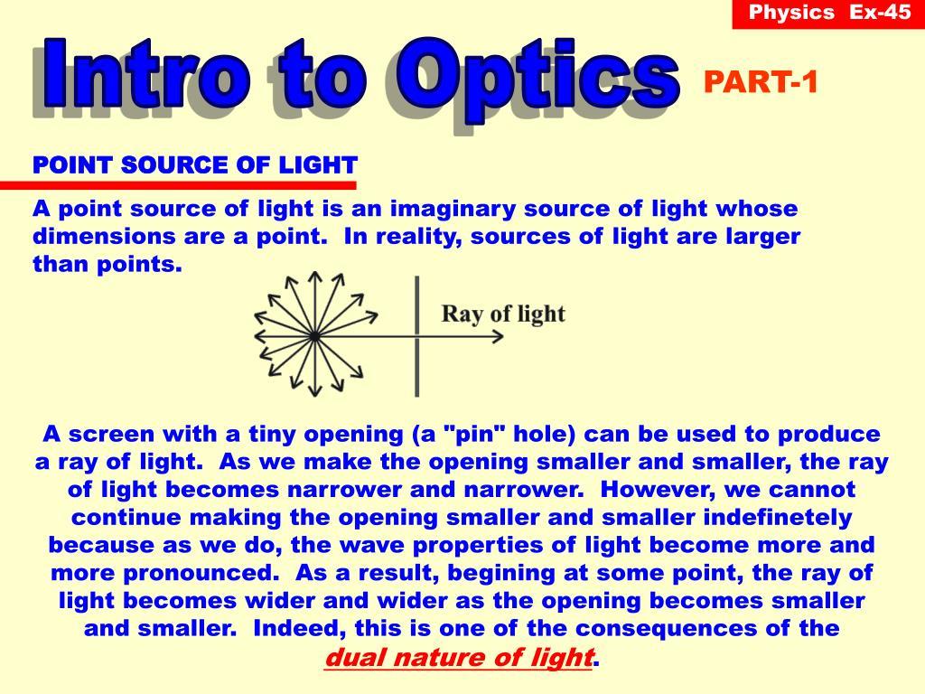 Intro to Optics