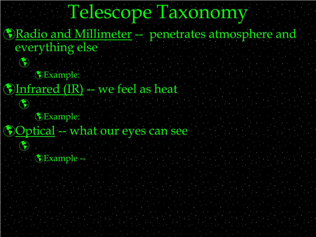 Telescope Taxonomy