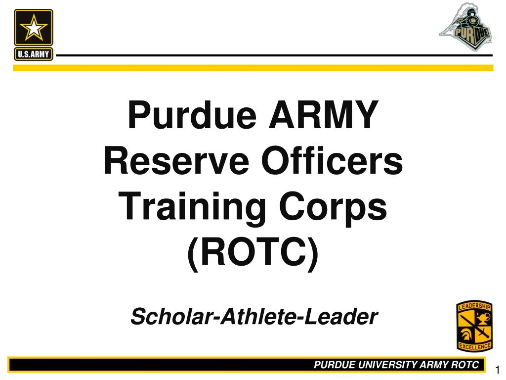Ppt Purdue Army Reserve Officers Training Corps Rotc