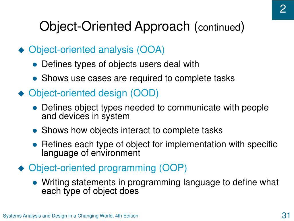 Object-Oriented Approach (
